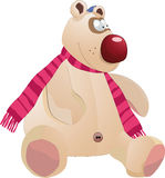 Toy bear. Kind toy bear and scarf Royalty Free Stock Photo