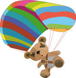 Toy bear. On the para clown Royalty Free Stock Image
