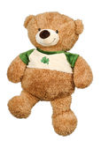 Toy bear. Toy brown soft bear on a white background stock photos