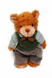 Toy bear. On white background royalty free stock photo