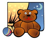 Toy Bear And Ball Stock Image