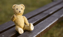 Toy bear - childhood banner Royalty Free Stock Images
