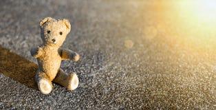 Toy bear - childhood banner Stock Photos