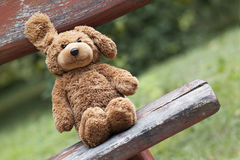 Toy bear - childhood concept Royalty Free Stock Photos