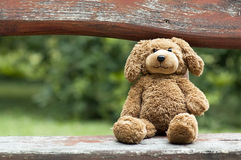 Toy bear - childhood concept Royalty Free Stock Images
