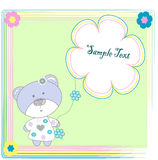 Toy bear with flowers. Vectors illustration Vector Illustration