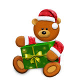 Toy bear and gift box Stock Image