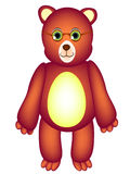 Toy bear with glasses. Royalty Free Stock Photography