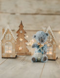 Toy bear and lights Stock Images