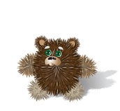 Toy bear. Toy teddy bear stands and looks up Royalty Free Stock Photos