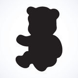 Toy Bear. Vector drawing Royalty Free Stock Image