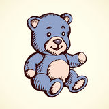 Toy Bear. Vector drawing Royalty Free Stock Images