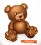 Toy bear, vector icon. Toy bear, 3d vector icon Stock Photography