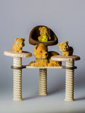 Toy bears on chairs Royalty Free Stock Image