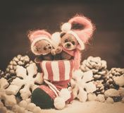 Toy bears in christmas interior Royalty Free Stock Photo