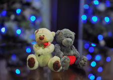 Toy bears couple in love Stock Photos