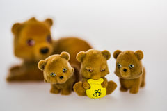 Toy bears. Mom and baby toy bears Stock Image