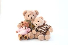 Toy bears sitting Stock Image