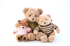 Toy bears sitting Royalty Free Stock Photography