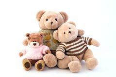 Toy bears sitting Royalty Free Stock Photos