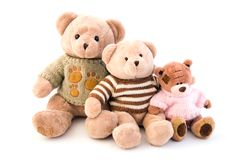 Toy bears sitting Royalty Free Stock Image