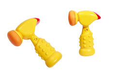 Toy beeping hammer for small kids Stock Photos