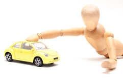Toy beetle play Royalty Free Stock Image