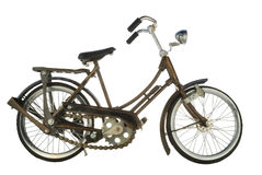 A toy bicycle. Is isolated on a white background Stock Image