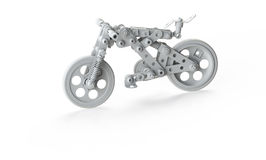 Toy Bicycle made of constructor Royalty Free Stock Images