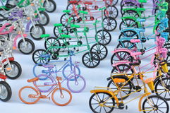 Toy Bicycles Royalty Free Stock Photography