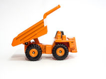 Toy big orange dump truck Royalty Free Stock Image