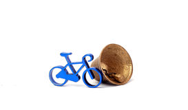 Toy bike and bell Royalty Free Stock Images