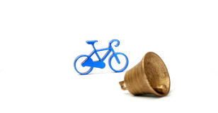 Toy bike and bell Royalty Free Stock Photo