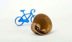 Toy bike and bell Stock Image