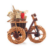 Toy bike with a harvest. Royalty Free Stock Image