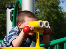 Toy binoculars royalty free stock photos