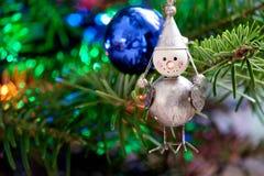 Toy Bird on a Christmas Tree Stock Photos