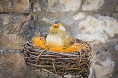 Toy bird nest Stock Photo