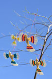 Toy birds on the tree Stock Photos