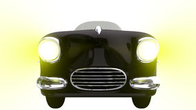 Toy black car. 3D render Stock Image