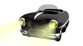 Toy black car. 3D render Royalty Free Stock Image