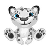 Toy black-and-white leopard cartoon isolated Royalty Free Stock Images