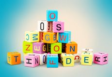 Toy. Block alphabet letters wooden child spelling royalty free illustration
