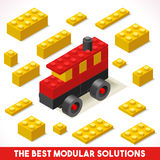 Toy Block Bus Games Isometric Lizenzfreies Stockfoto