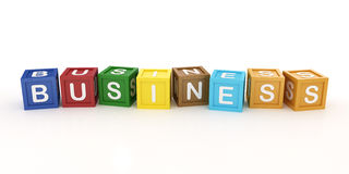 Toy Block with Business Word Stock Photo