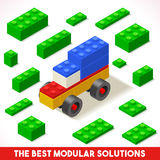 Toy Block Car Games Isometric Stock Afbeelding