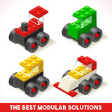 Toy Block Cars 01 Games Isometric Stock Photo