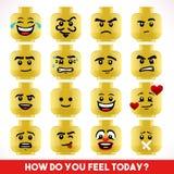 Toy Block Emoji Games Isometric Stock Photos