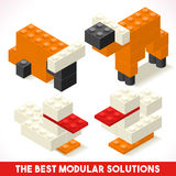 Toy Block Farm 01 Games Isometric. The Best Modular Solutions Isometric Basic Farm Animals Collection Cow and Duck Plastic Toy Blocks and Tiles Set. HD Quality royalty free illustration
