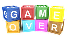 Toy Block with Game Over phrase Royalty Free Stock Images